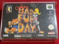 CONKERS CONKER'S BAD FUR DAY NINTENDO 64 NEUF PAL NEUF BLISTER NEW RARE