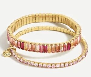 J. Crew Stackable Baguette Stretched Bracelet Set