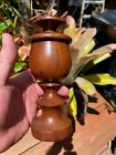 Antique SLOTTED Turned Treen Apothecary Jar Spice FREE SHIPPING wood wooden