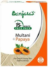 Banjaras Face Care Multani With Papaya Powder Controls Dirt 100gm