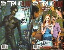 signed set (2) TRUE BLOOD TAINTED LOVE 1 A B 1st print MIKE McMILLIAN actor HBO