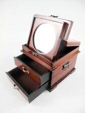 Antike Schmuck Schatulle * Schminkkästchen mit Spiegel* Truhe  Kiste * Box* Holz