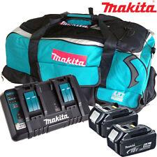 Makita 2 x BL1850 BATTERIA + Caricabatterie DC18RD + sacchetto LXT600 Makita DSP600ZJ visto