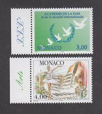 Monaco -Timbres neufs ** - Académie de la Paix - Arts - N° 2149 et 2150 - TB