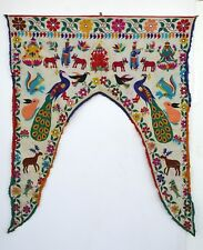 Vintage Door Valance Window Decor Wall Hanging Hand Embroidered 44 x 52 inch X07