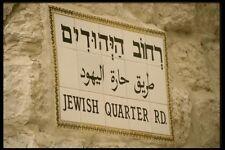 122007 Ciudad Vieja signos en hebreo árabe e Inglés A4 Foto Impresión