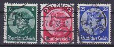 DR Mi Nr. 479 - 481, rund gest. Erlangen etc., Reichstag Potsdam 1933, used