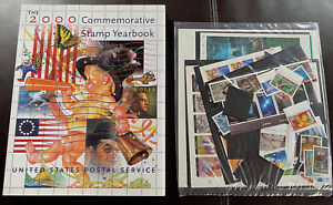 S21 2000 US Commemorative Stamp Yearbook Hardcover USPS Sealed Stamps Exc