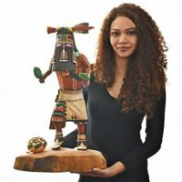 "Hopi Carved 25"" Long Hair Kachina Doll Sculpture byBuddy Tubinaghtewa FREE GIFT"