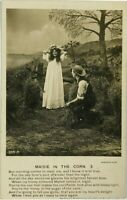 Early RPPC Maize In Corn Beautiful Woman Love Poem Bamforth Real Photo Postcard
