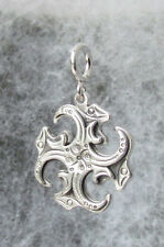 Svarga, Old Hutsul Cross Pendant, Oxidized + Sterling Silver #3