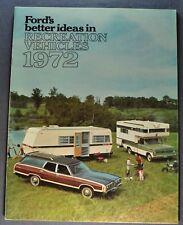 1972 Ford RV Brochure F-100 250 Pickup Truck Bronco LTD Mustang Torino T-bird 72