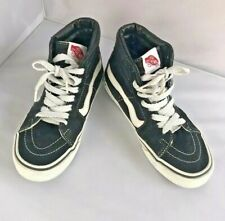 Vans Men Size 5 Ladies 6.5 Black Skateboard Shoes Lace Up Tennis Athletic Canvas