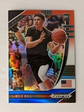 2020-21 Panini Prizm Draft Picks Lamelo Ball Red White Blue Rwb Rc Hornets