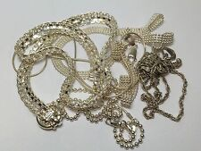 5 STERLING SILVER NECKLACES 55 Grams snake Link Ball Rope chain WHOLESALE LOT