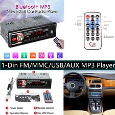 8258 Coche Radio Reproductor de MP3 1-Din Bluetooth USB AUX FM Estéreo Radio 87.5 — 108 MHz
