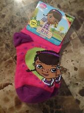 New girls Disney Doc Mcstuffins Socks shoe size 5.5-8.5 toddler Safety Toe gift