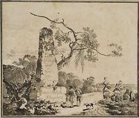 """Johann Christian KLENGEL, """"XII VERSCHIEDENE LANDSCHAFTEN"""", 1775, Radierung"""