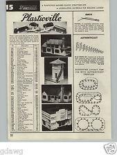 1957 PAPER AD Plasticville Railroad Town Hi Lo Trestle Set Authenticast
