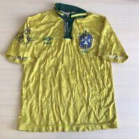 BOYS Brazil 1992/93 Home Sz L Umbro shirt jersey maillot Brasil football soccer