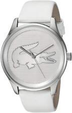 Lacoste Original 2001001 Women's Victoria White Leather Strap Watch 38mm