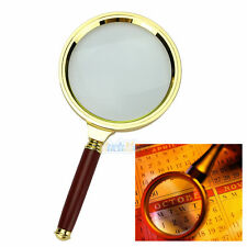 90mm Handheld 10X Magnifier Magnifying Glass Loupe Reading Jewelry NEW US Ship