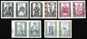 Polen - Volkstrachten Satz 5 Paare postfrisch 1959 Mi. 1138-1147 B