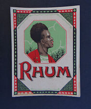 Ancienne étiquette RHUM french rum label