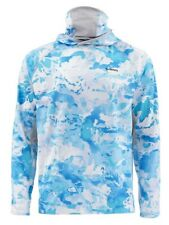 Simms Mens SolarFlex UltraCool Armor Shirt, Cloud Camo Blue, Closeout