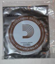 D'ADDARIO  5  Cordes Guitare Acoustique  - Phosphore Bronze - PB026
