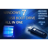 WINDOWS 7 ALL VERSIONS USB Ultimate Pro Home Premium Starter Business  32/64 Bit