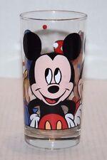 "New Walt Disney Co Mickie Minnie Donald Glass 6 1/4"" Tumbler Free Shipping!"