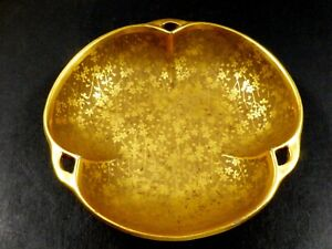 VINTAGE PICKARD ETCHED CHINA FLORAL GOLD SMALL BOWL CANDY DISH FLORAL PATTERN