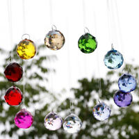 Hongville Fancy Crystal Ball Prisms Pendant Feng Shui Suncatcher For Holiday
