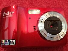 Vivicam X028 12.1 MP Digital Camera - Red