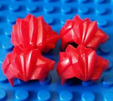 LEGO Accessory Minifigure ONE Hair Bright Red Spike Spiky Wig  headgear