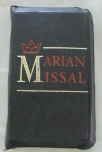 The New Marian Missal Bible Sylvester P Juergens S.M with zipped Case