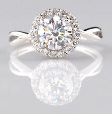 585er Weiß gold 2,10Kt runden Form fabelhaft Entwurf Solitär Verlobung Ring