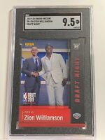 2019-20 Panini Instant Draft Night Zion Williamson Rookie First RC Ever SGC 9.5
