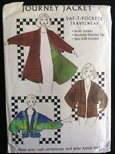 Pattern Saf-T-Pockets 9600, Journey jacket, travel, secret pockets sz 6-20