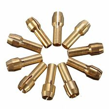 10pcs Brass Collet Mini Drill Chuck 0.5/0.8/1.0/1.2/1.5/1.8/2.0/2.4/3.0/3.2mm