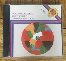 Horowitz Recital CD CBS Records Masterworks