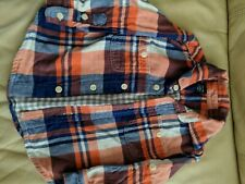 Baby Gap Plaid soft Flannel Button Up 18-24m