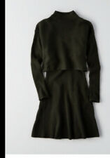 american eagle two piece green sweater dress size XXS