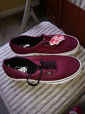VANS Off the Wall Classic Canvas Men's Burgundy Shoe Size 10