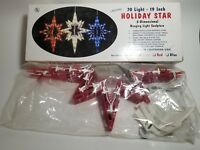 """Vintage Crystal 70 light HOLIDAY STAR,19"""", 3 Dimensional Hanging light Sculpture"""