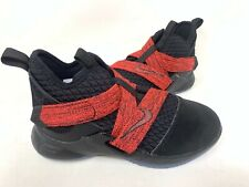 NEW! Nike Youth Boy's Lebron Soldier 12 Basketball Shoes Blk/Red #AA1353 146L tz