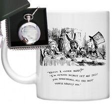 Alice In Wonderland Quote Have I Gone Gift Set Mug & Engraved Pocket Watch