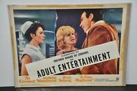 """A FINE MADNESS MOVIE 11x14"""" POSTER LOBBY CARD 1966 SEAN CONNERY CENSOR BANNER"""