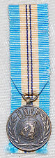United Nations UNEF 2 Miniature Medal - In The Service of Peace